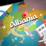 map albania